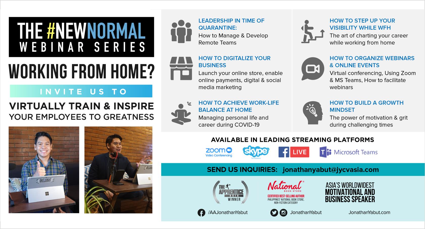 Jonathan yabut motivational speaker WFH topics