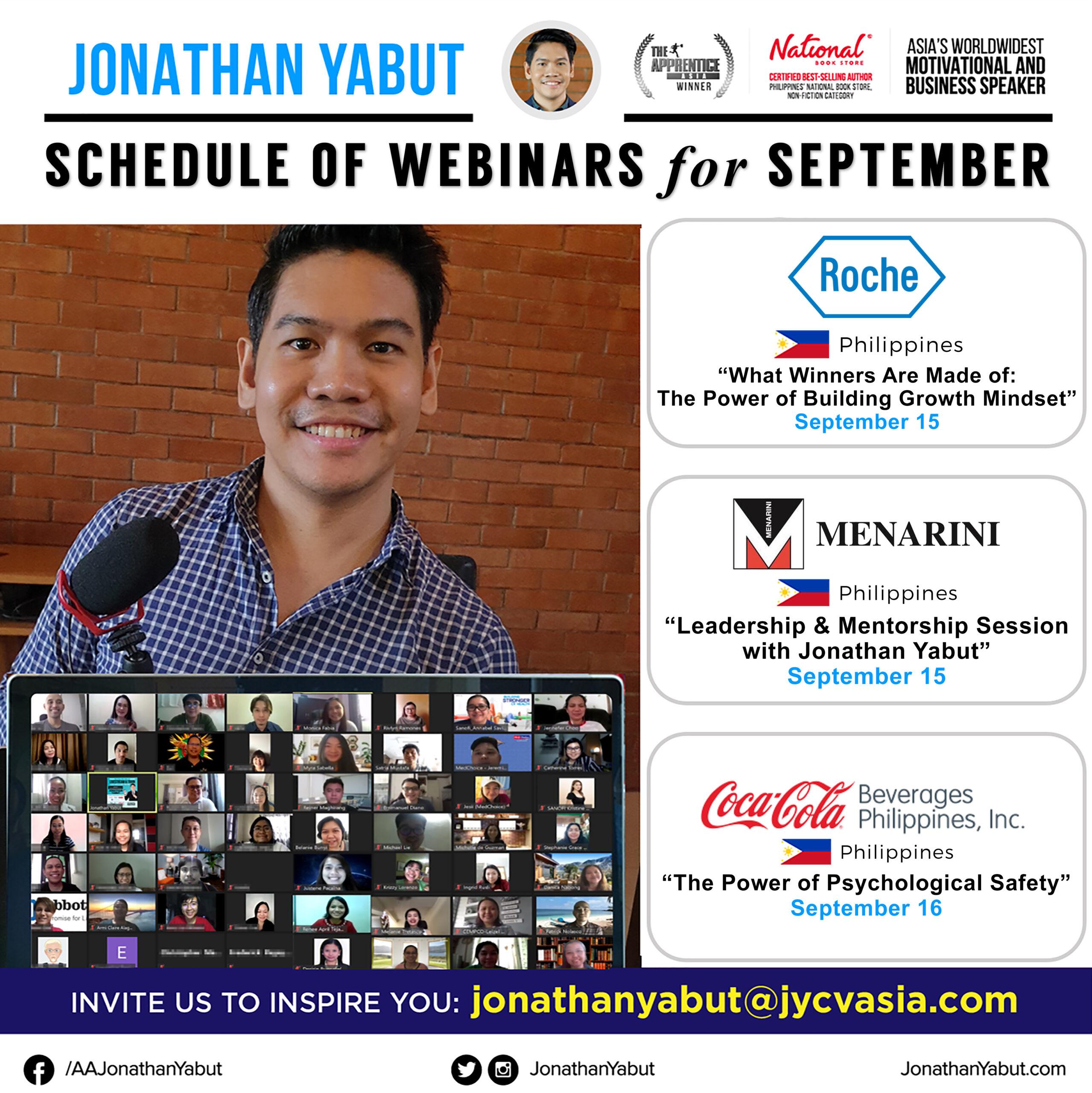 Jonathan Yabut motivational speaker asia philippines September webinars 2 IG Feed
