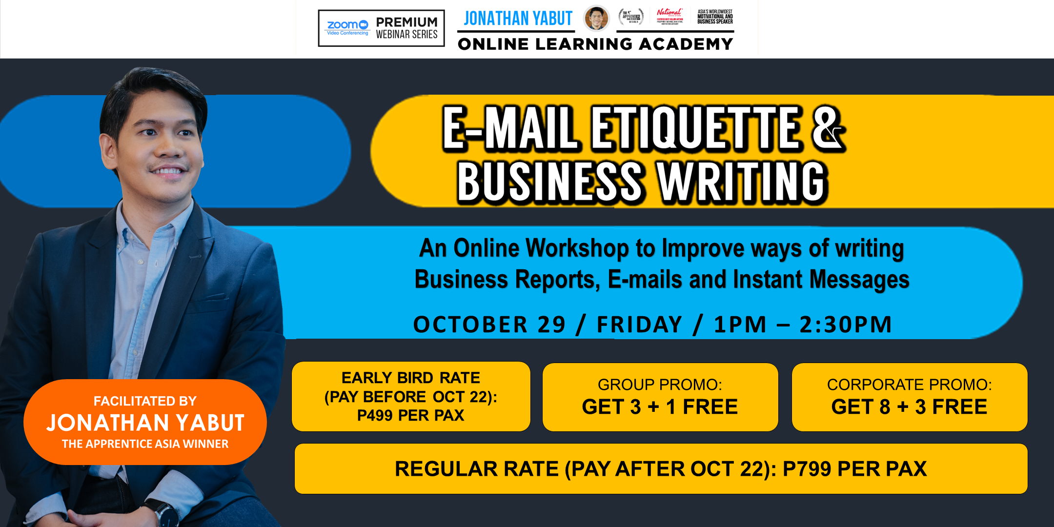 E-mail Etiquette & Business Writing (October 29 / Friday)